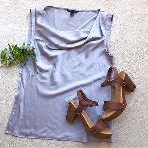 • Banana Republic Silver Blouse •